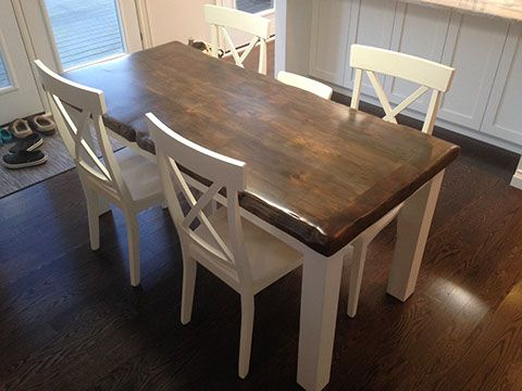 Reclaimed Barn Wood Harvest Parson Spindle Sawbuck Base X Dining Table Furniture Kitchener Toronto Guelph Hamilton
