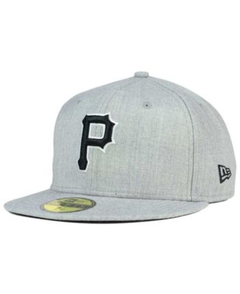2003e6bbfca New Era Pittsburgh Pirates Heather Black White 59FIFTY Fitted Cap - Gray 7  3 4