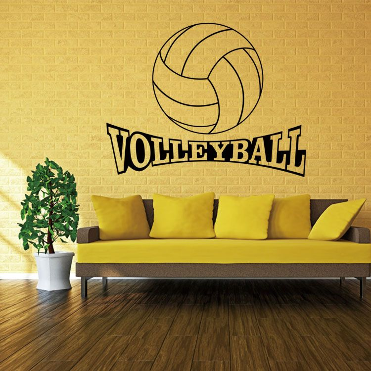 4056 Volleyball Vinyl Wall Decal Stickers for kids Sport Boy rooms ...