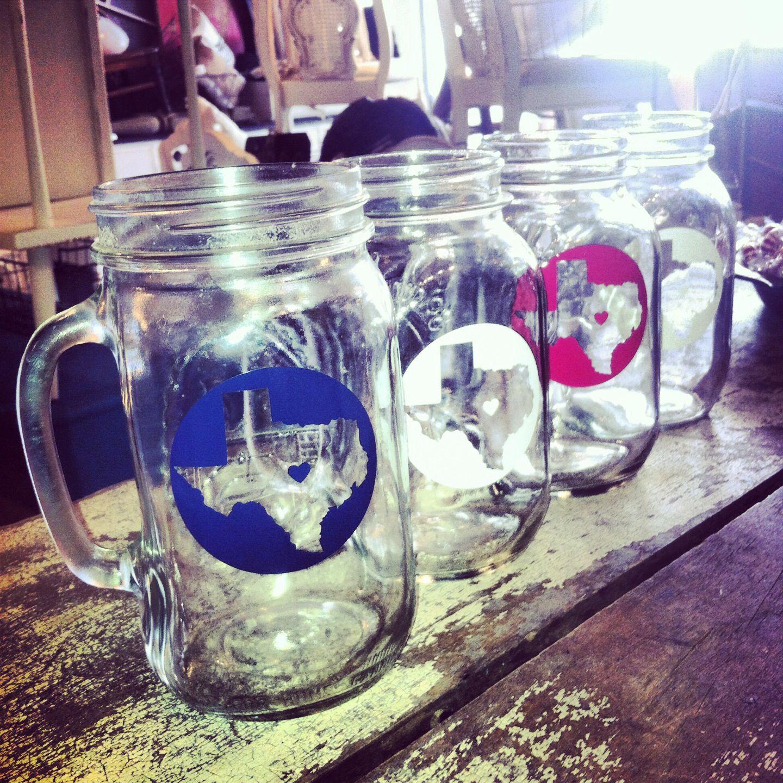Lone star state Texas mason jars