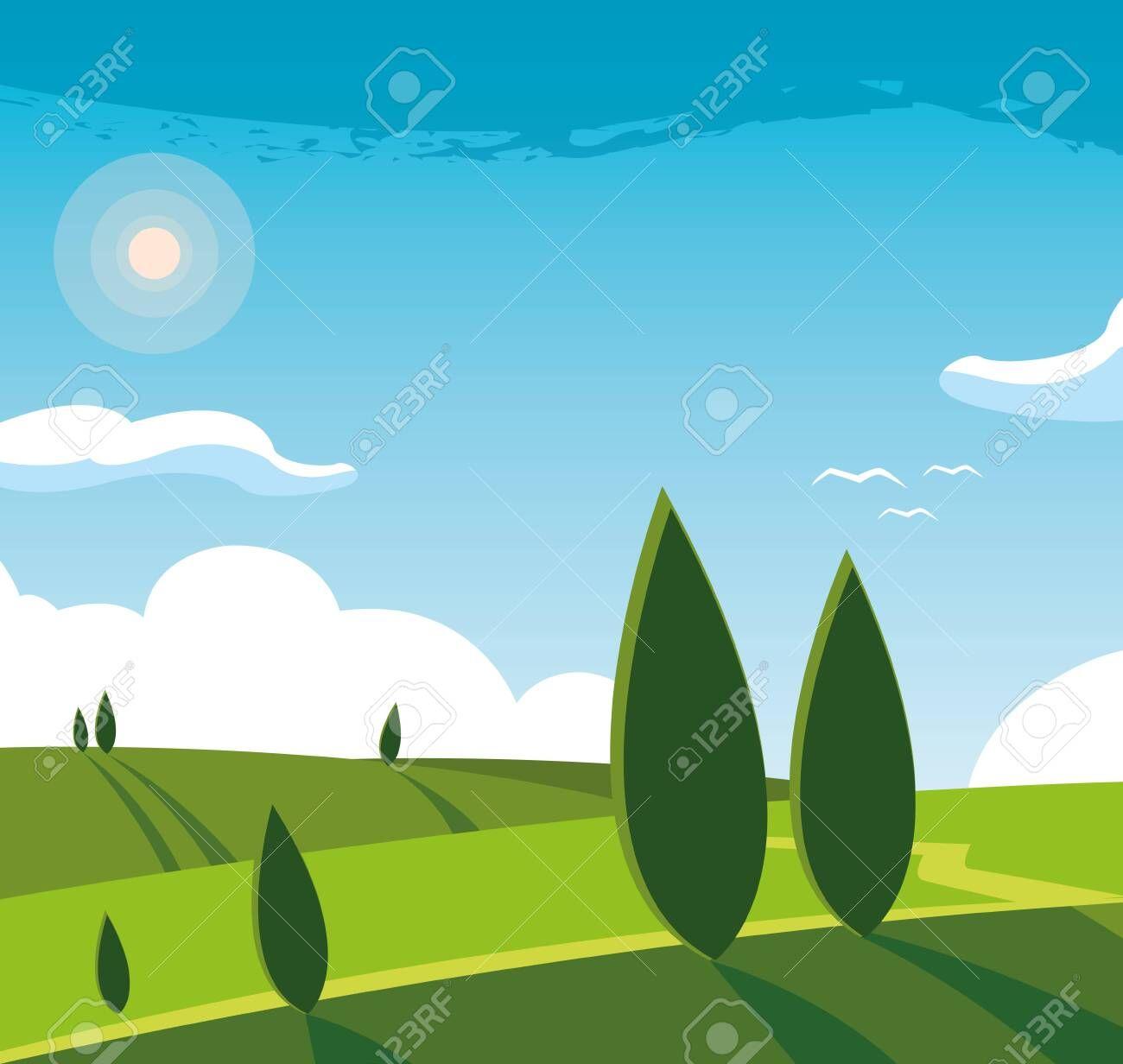 Landscape Nature Scene Icon Vector Illustration Design Ad Scene Nature Landscape Icon D Fantasy Landscape Nature Scenes Vector Illustration Design