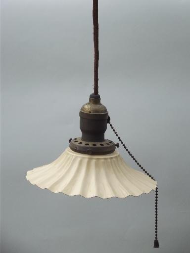 antique 1910 ceiling fixture pendant light crimped fluted toleware rh pinterest com