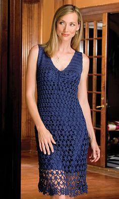 Nightfall ~ Beautiful Crochet Dress: free pattern