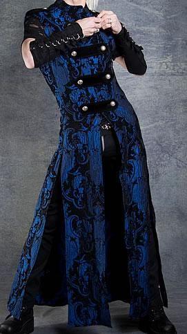 Hellraiser Coat Cobalt Blue Tapestry By Shrine Clothing