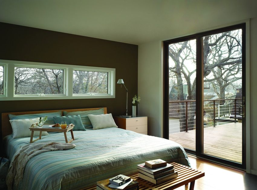 Incorporate awning windows in your bedroom above