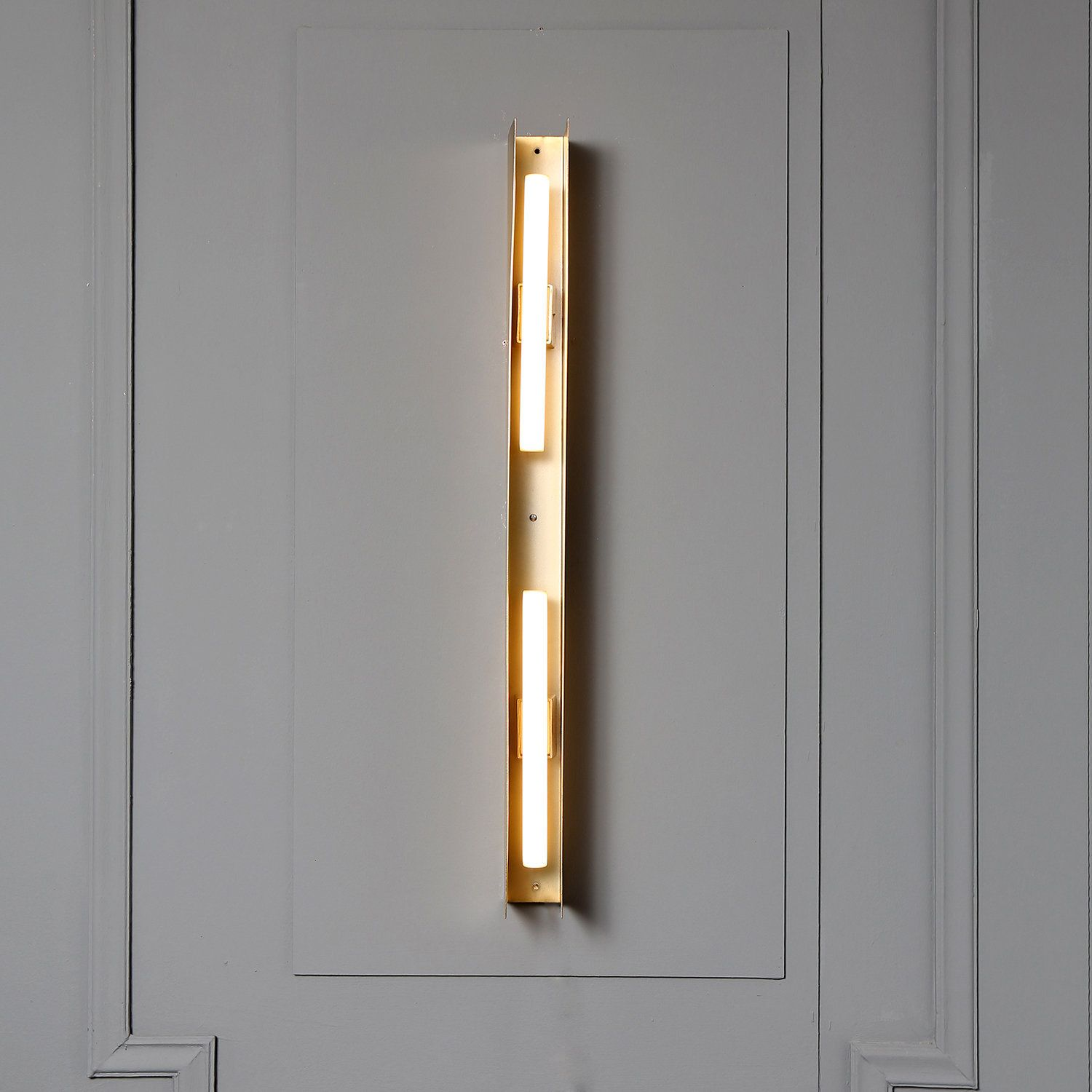 Antique Brass Led Down Light Fixture Aluminum Suspenders Led Wall Lighting Decorative Hanging Linear Wall Sconce