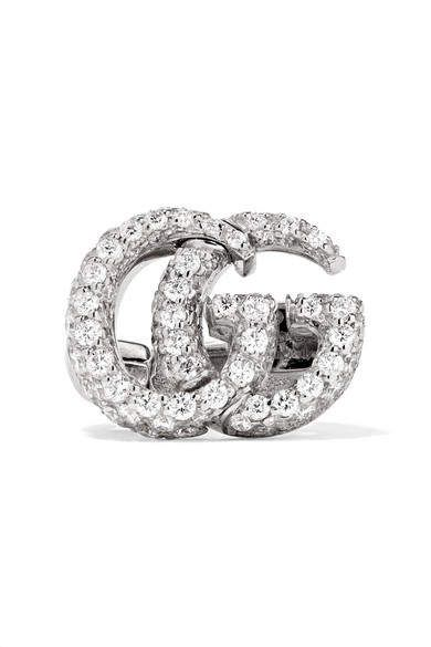 5fe8dd991 Gucci - 18-karat White Gold Diamond Clip Earring #Gucci #earring #ShopStyle  #MyShopStyle click link for more information