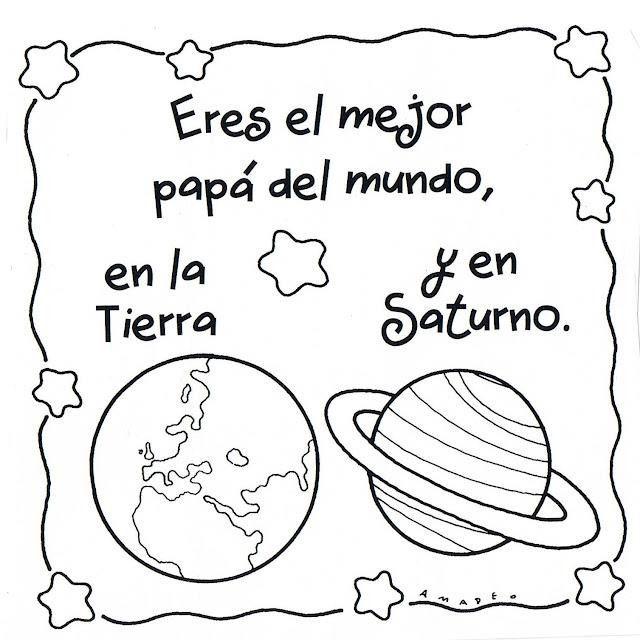 Del Dia Del Nino Para Colorear Imagui Fathers Day Art Fathers Day Crafts Happy Fathers Day