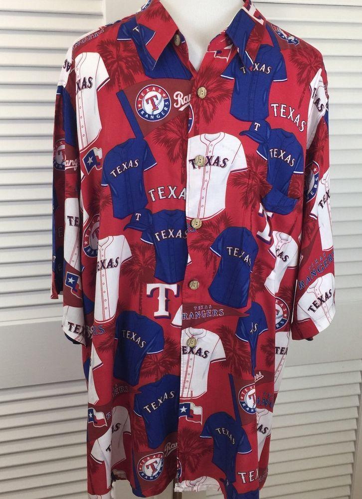 6b33e79df Reyn Spooner Texas Rangers Hawaiian Shirt UNIFORMS Baseball Men's XXL⚾ |  eBay