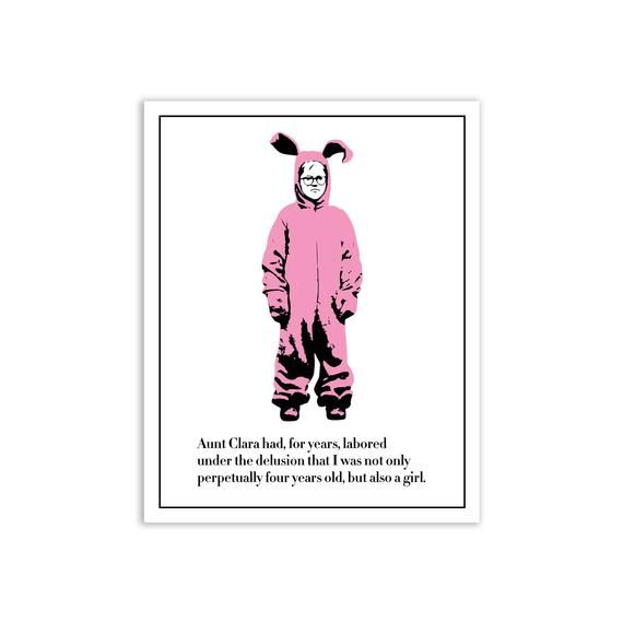 A Christmas Story Poster Pink Nightmare Poster Ralphie Bunny