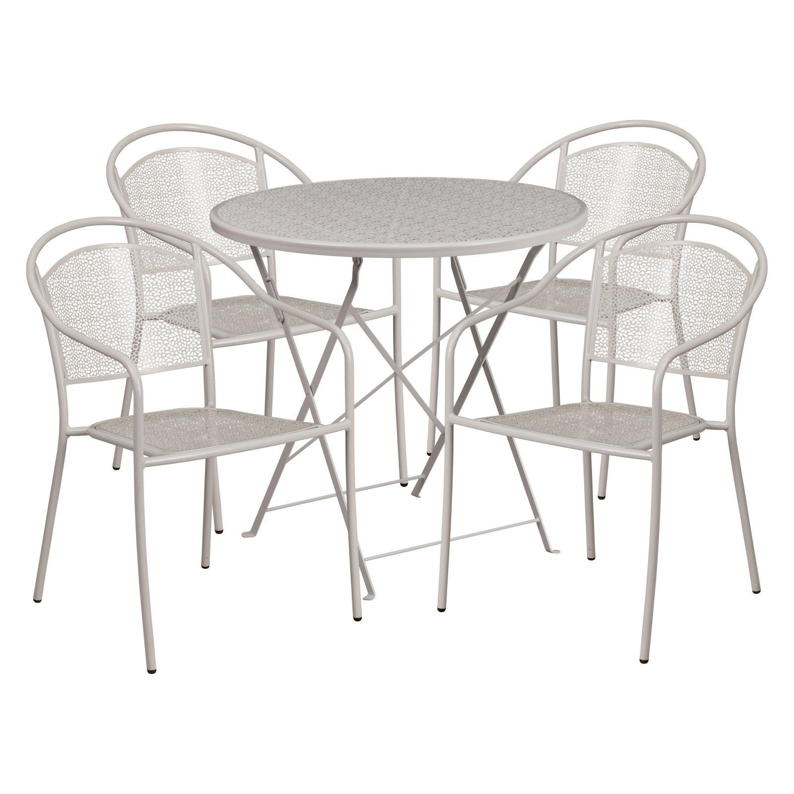 outdoor flash furniture steel round folding patio dining set with rh pinterest com
