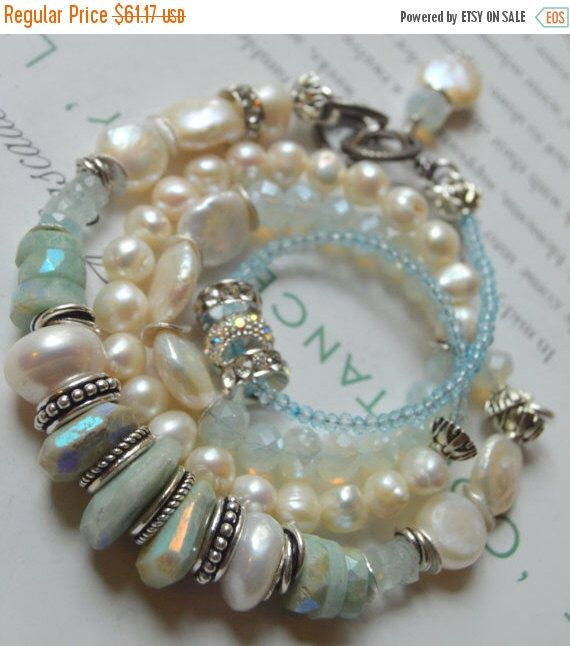 A personal favorite from my Etsy shop https://www.etsy.com/listing/248002409/on-sale-pearl-bracelet-wrap-bracelet