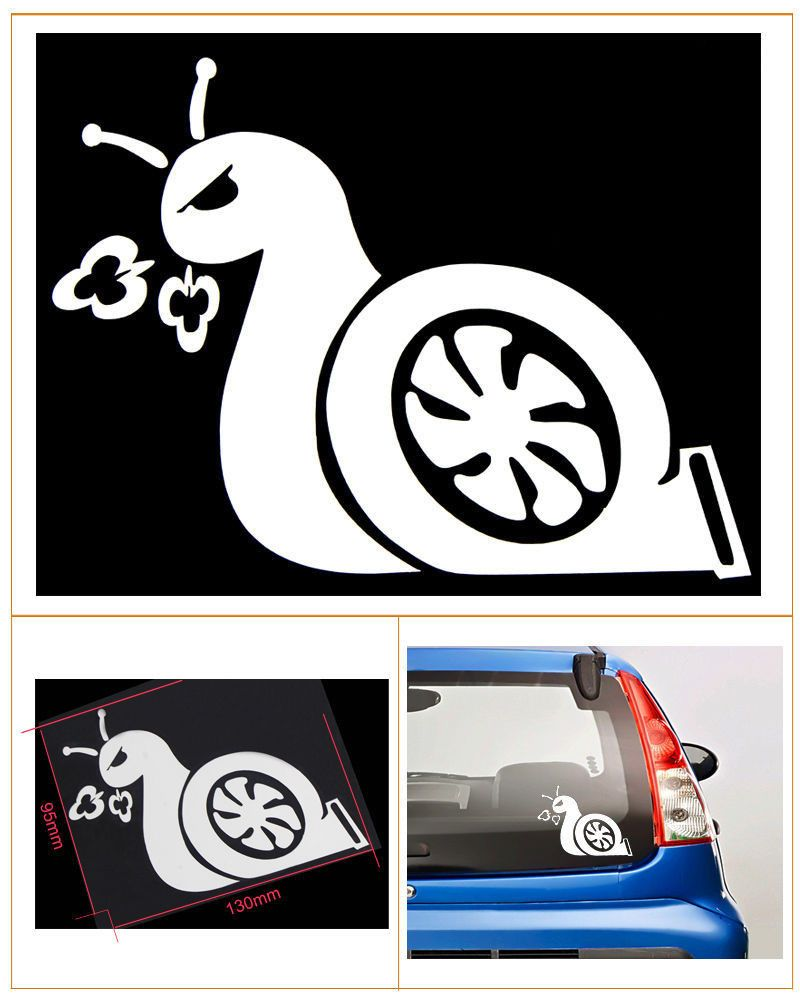 Boost Snail Turbo JDM Funny Decal Sticker