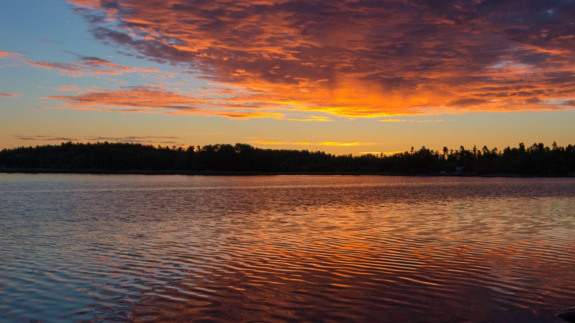 Lake Sunset Archipelago Hd Wallpaper Lake Sunset Island Heights Sunset Wallpaper sunset lake ice evening sky