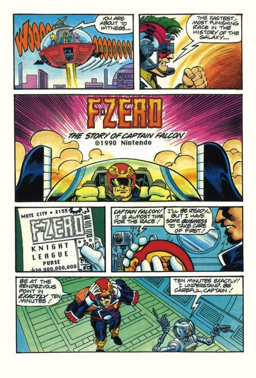unique to only a few games at the time f zero had it s own comic rh pinterest com PS3 Game Manuals Metroid NES Game Manual