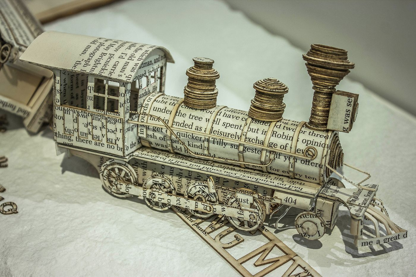 Book Sculpture: Derailing my train of thought on Behance