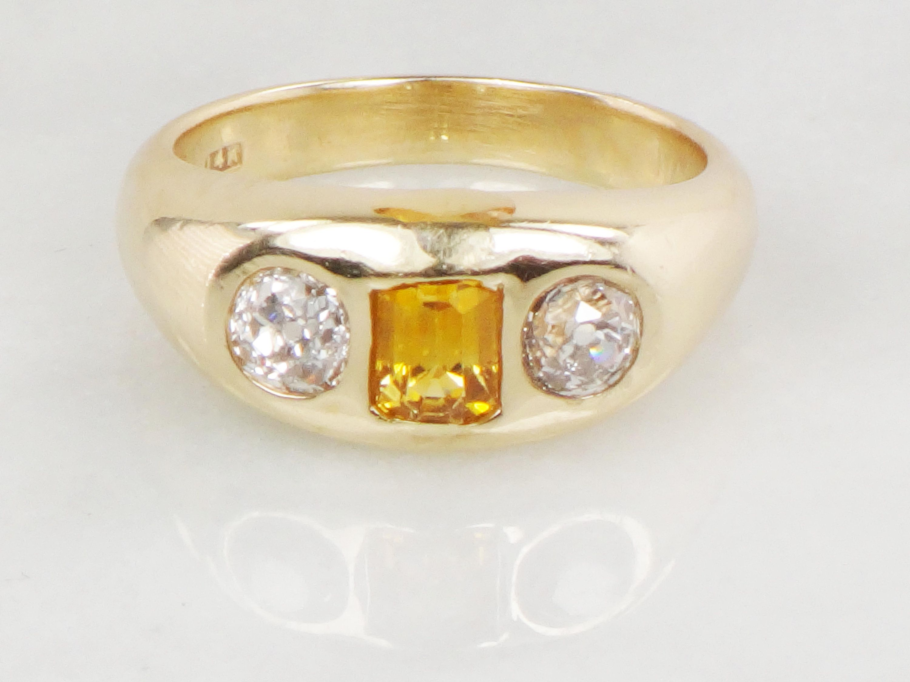 FB Jewels 14K Yellow Gold Small Diamond Cut Ribbed Crosswith etching