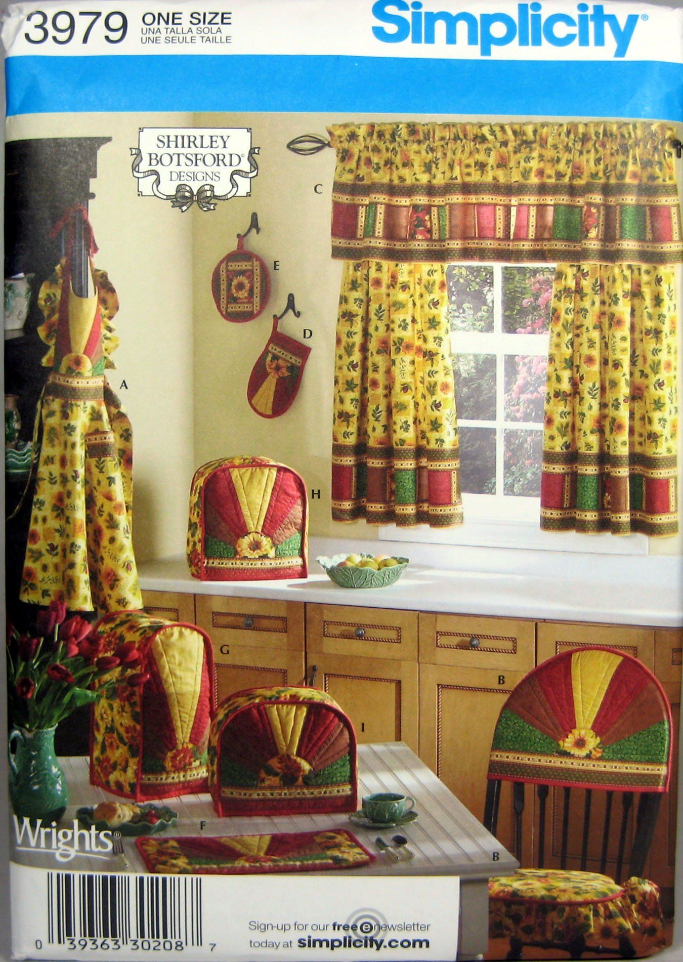 Simplicity Sewing Pattern 3979 Kitchen Accessories and