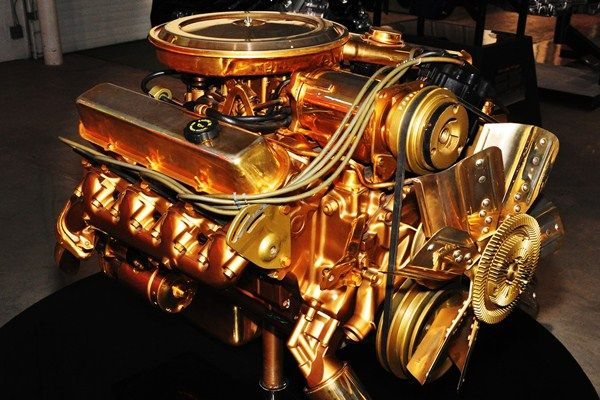 Gold-plated-Cadillac-500-CID-V8 | Automotive | Automotive by David