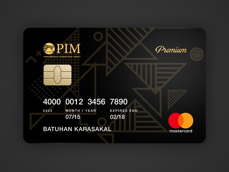 Pim Gold Credit Card Redesign By Melek Ozturk On Dribbble In 2021 Credit Card Design Credit Card App Gold Credit Card