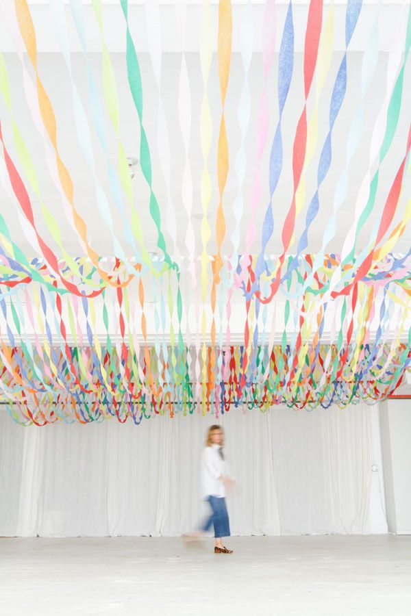 Decorating a Big Room on a Budget   Oh Happy Day! #diypartydecorationspaper