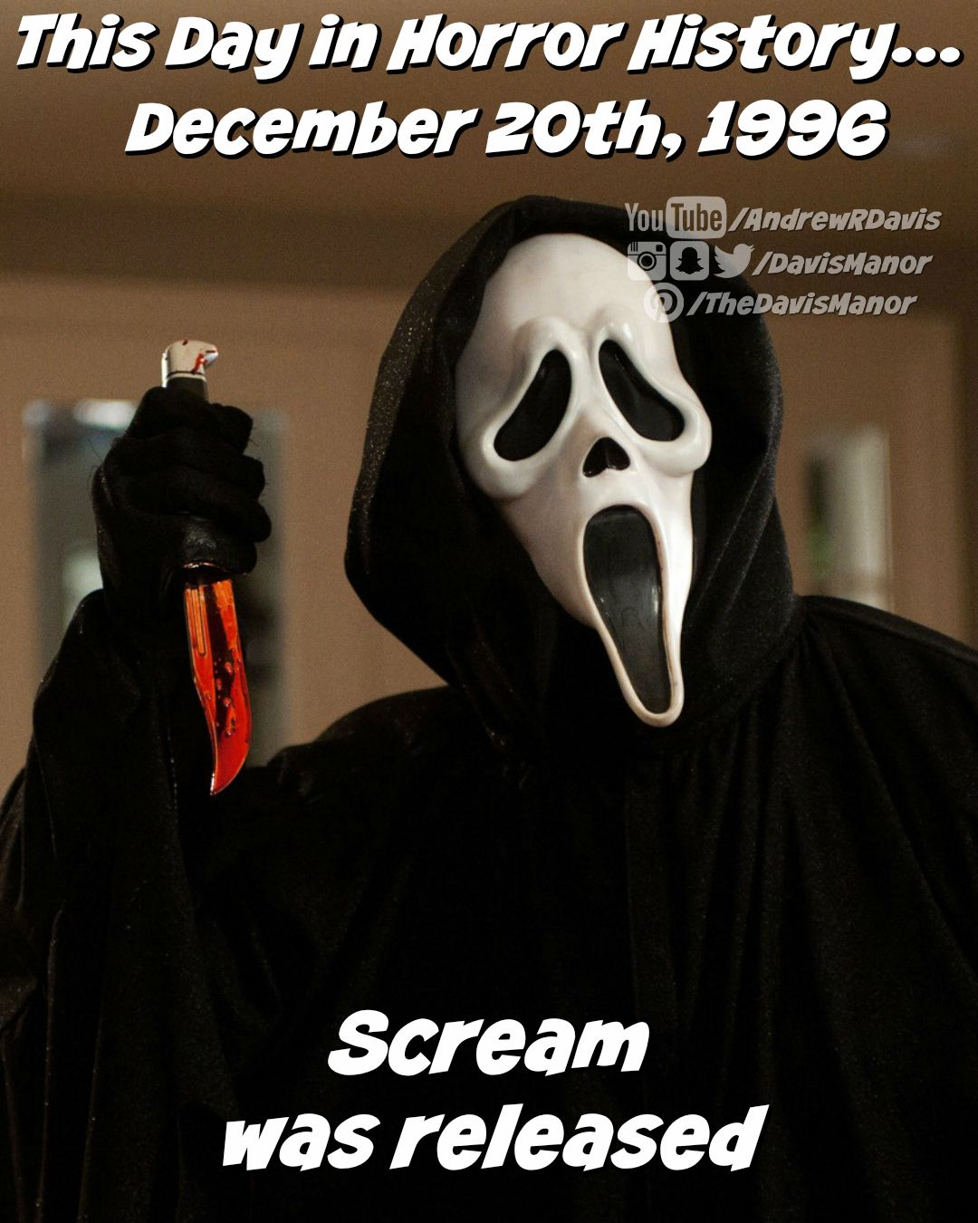This Day in Horror History... December 20th, 1996 Scream