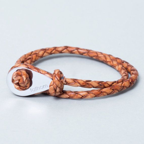 Leather Bracelet With Charm Gift By Thefathom