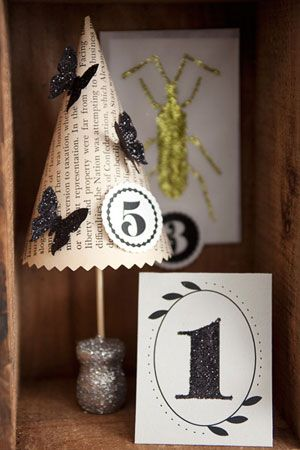 How to Make Book Page Mini Trees