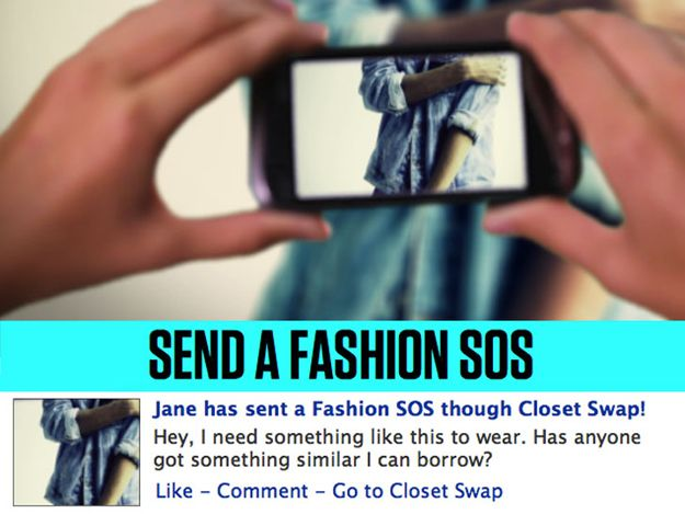 Closet Swap app - trade clothes with your facebook friends. :)