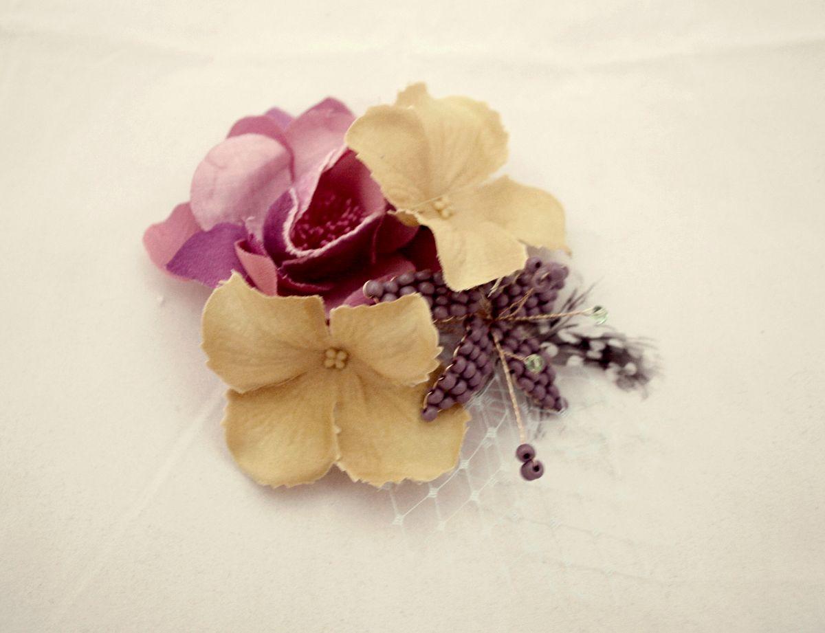 flowers fascinator