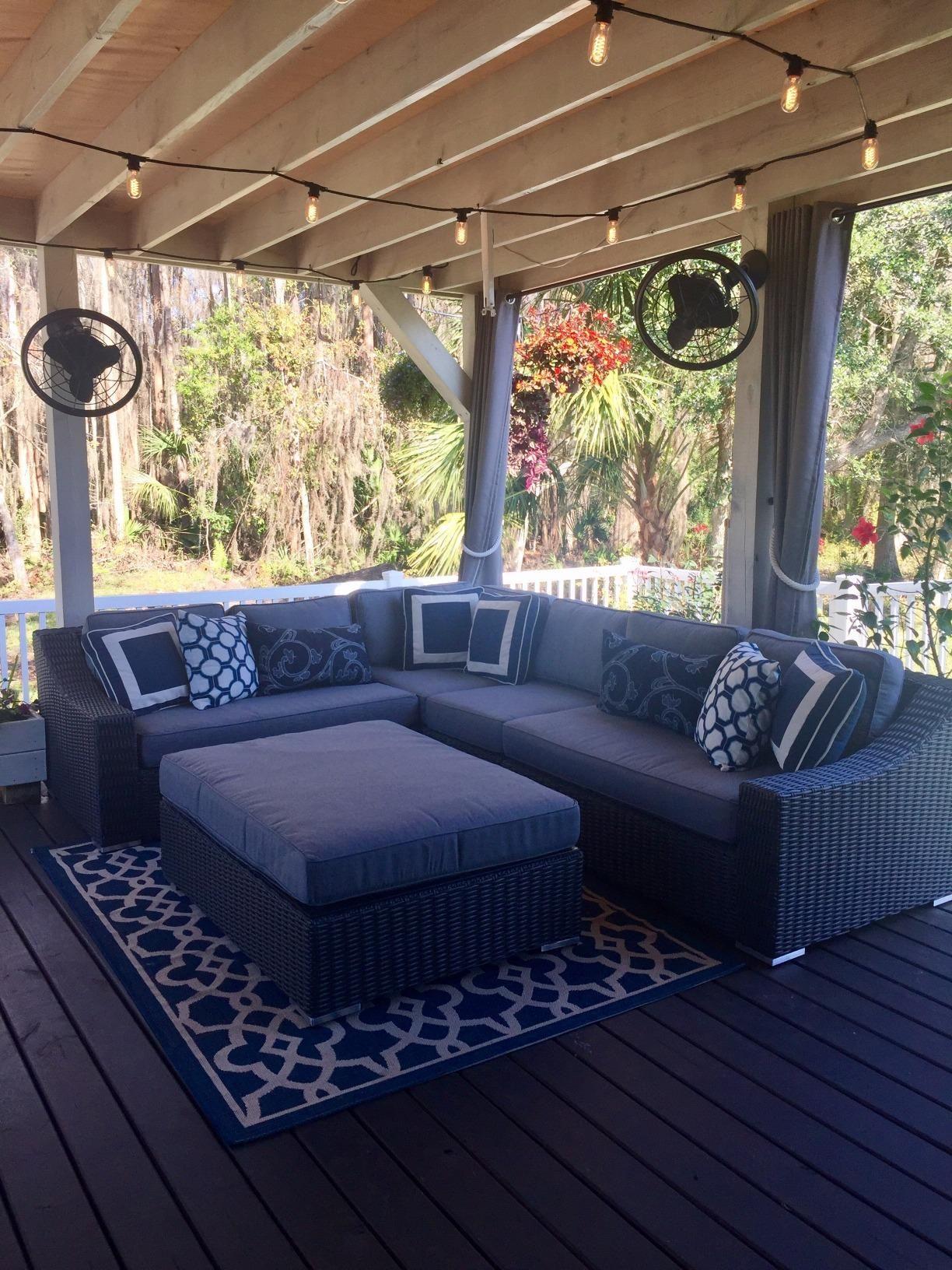 Amazon Com Customer Reviews Toja Turo Outdoor Patio Sectional Set 5 Pcs Wicker Rattan Body Patio Sectional Sectional Patio Furniture Patio Sectional Diy