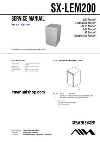 0a11e40e1e8304e6cd8ffc74b5f90e43 aiwa speaker system sx lem200 service manual download  at mifinder.co