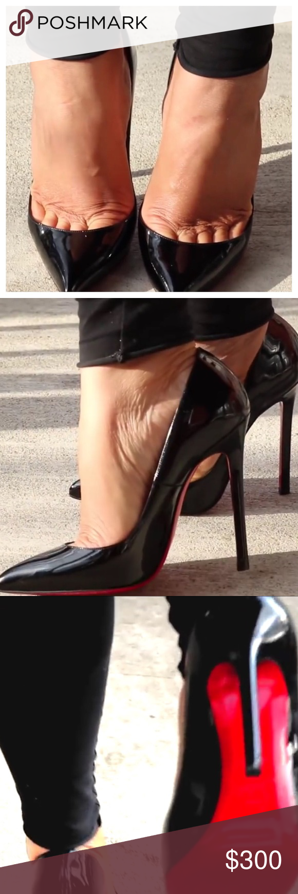 4a9532b7aa2 Christian Louboutin Pigalle 120 Christian Louboutin Pigalle 120 in black  patent leather. Size 9