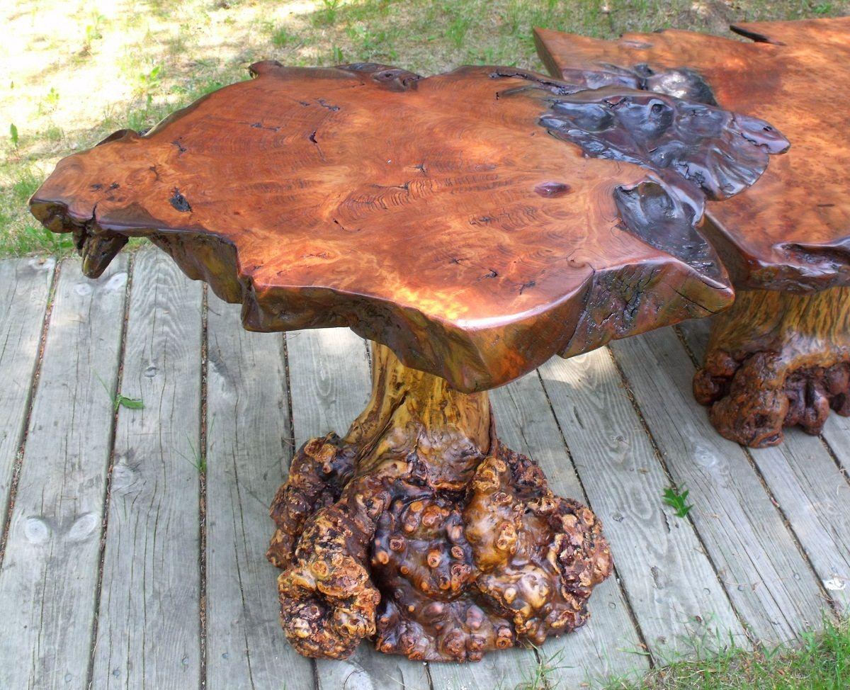 Redwood Burl Furniture Redwood Burl Coffee Table Log