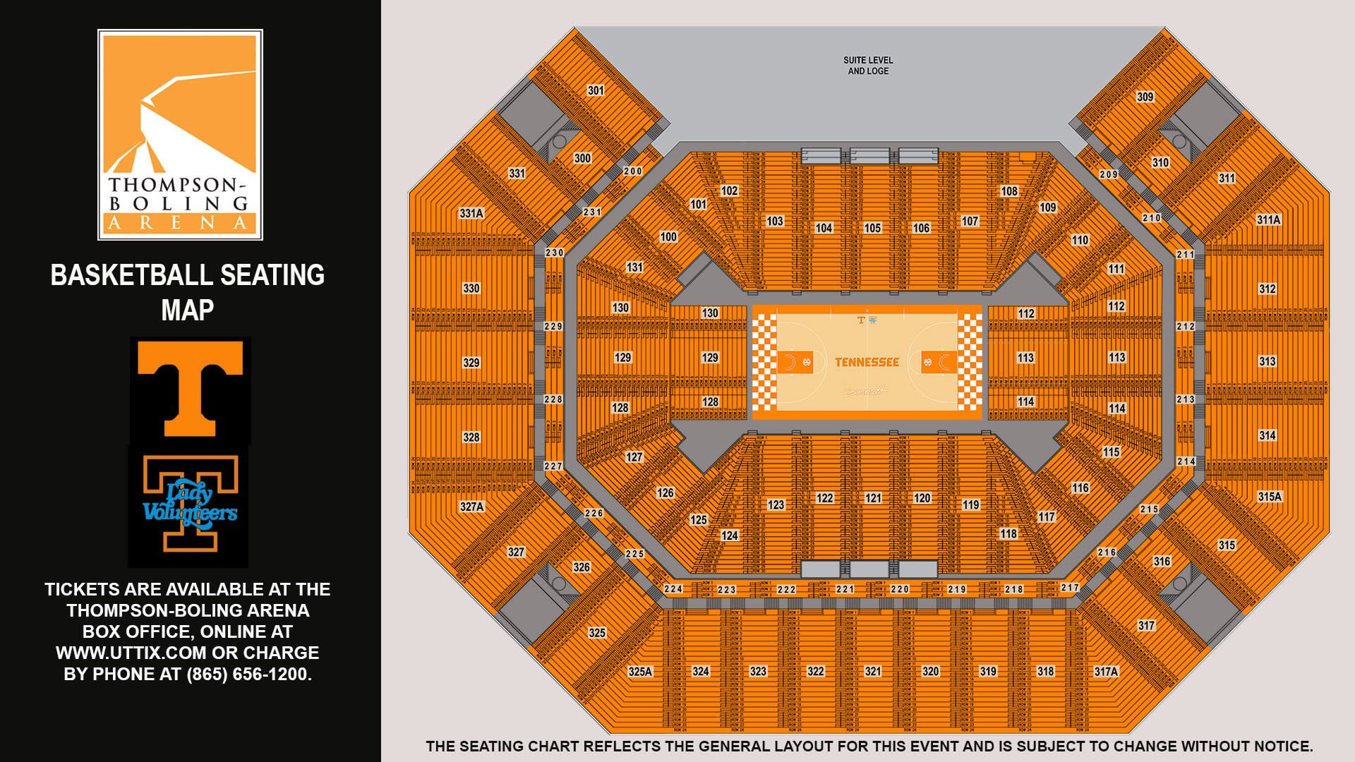 Tennessee Vols Basketball Seating Chart in 2020 Vols