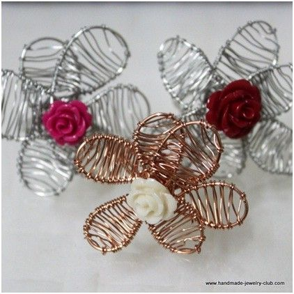 How to make wired flower rings tutorials