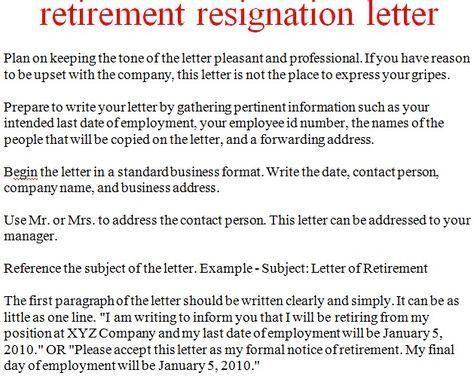 resignation letter retirement - Pinarkubkireklamowe