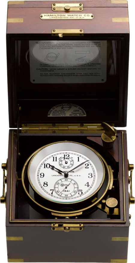 Timepieces:Other , Hamilton Model 21 Naval Ships Chronometer Model 21, circa 1941. ... Image #1
