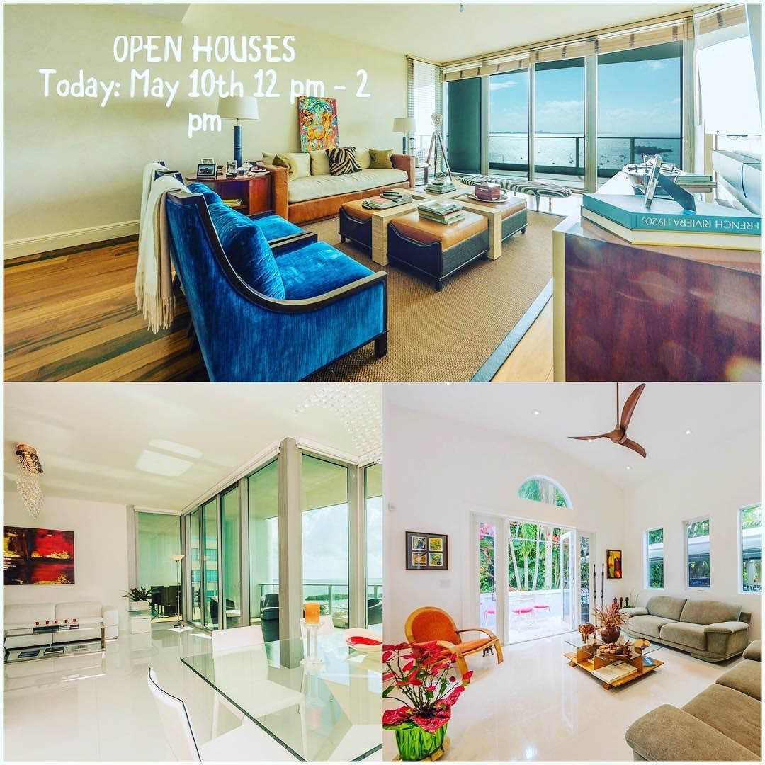 3 gorgeous properties open today in coconut grove! Visit us 3855 irvington av and Grovenor house #1905 and #2005 at 2627 S Bayshore dr. #conciergelistings #conciergerealtybrokers