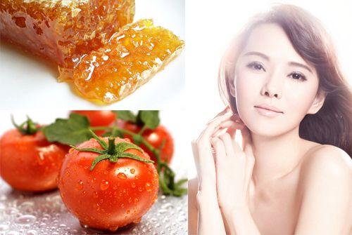 Cách dưỡng trắng da mặt nhanh nhất với cà chua và mật ong