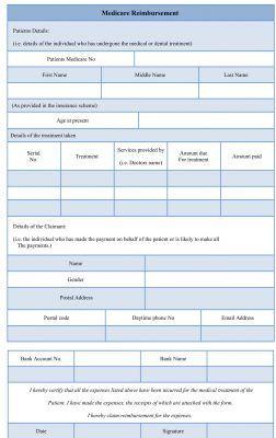 Medicare Reimbursement Form Medicare How To Apply Form