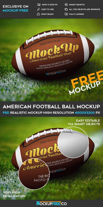 Download American Football Ball Free Psd Mockup Download American Football Football Ball Football