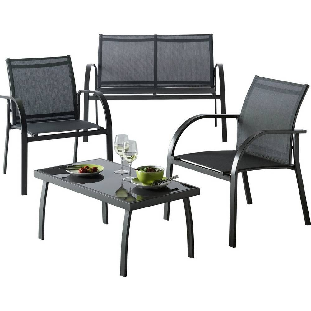 buy argos home milan 4 seater metal sofa set garden table and rh pinterest com
