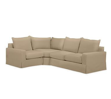 pb comfort square arm right arm 3 piece wedge sectional slipcover rh pinterest co uk