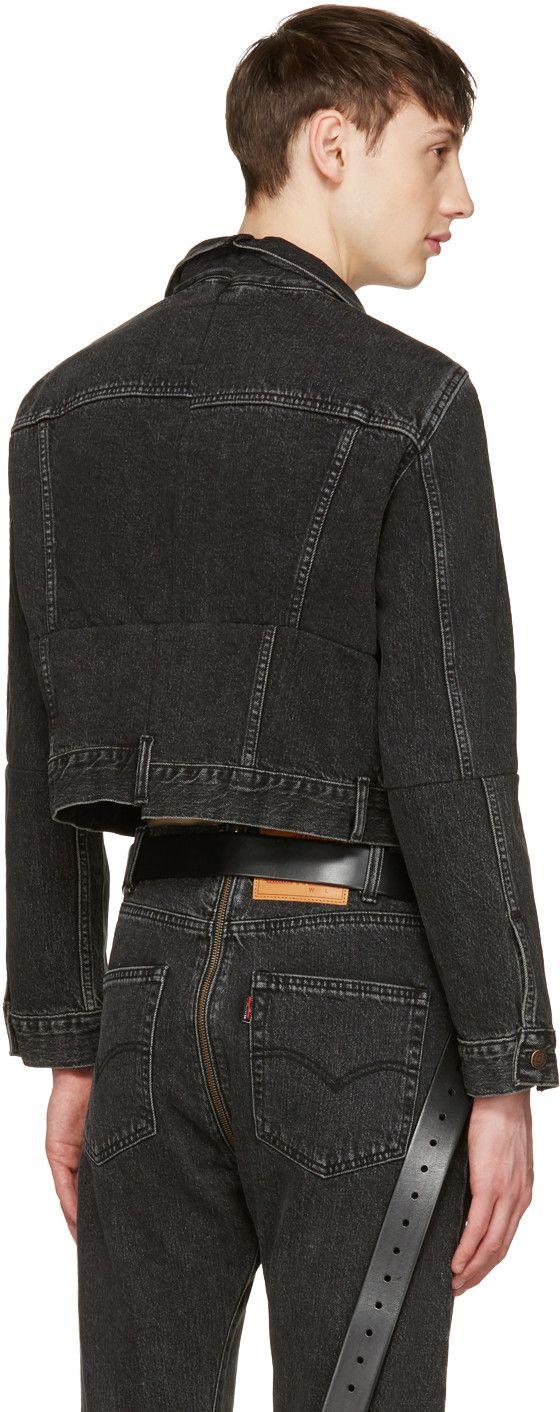 Vetements Black Levi's Edition Reworked Denim Jacket