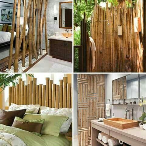 Deco con ca as de bamb separador menjador pinterest - Canas de bambu decoracion ...