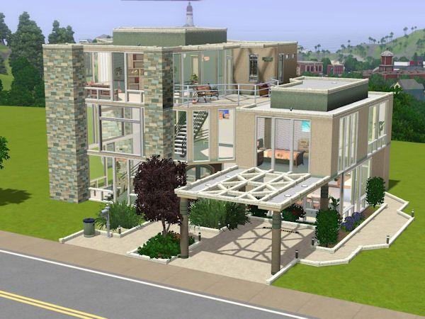 Sims House Sims 3 Beautiful House Prohozhdeniya Igr Plantas De Casas Casa Sims Casas