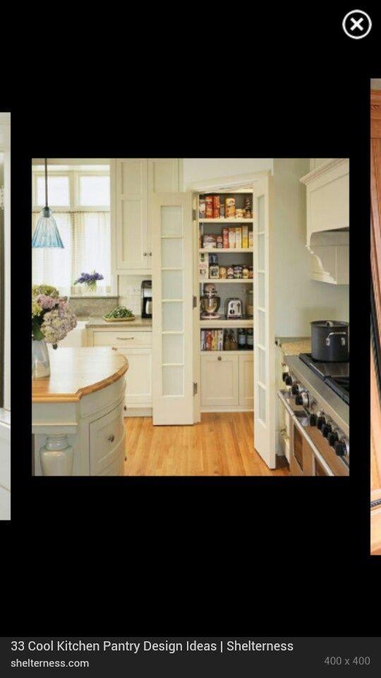 Design for walk in pantry Corner