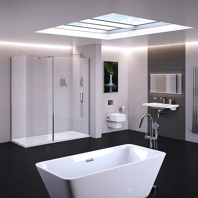Trinity Premium 10mm 1400 x 800 Walk In Enclosure with Shower Tray ...