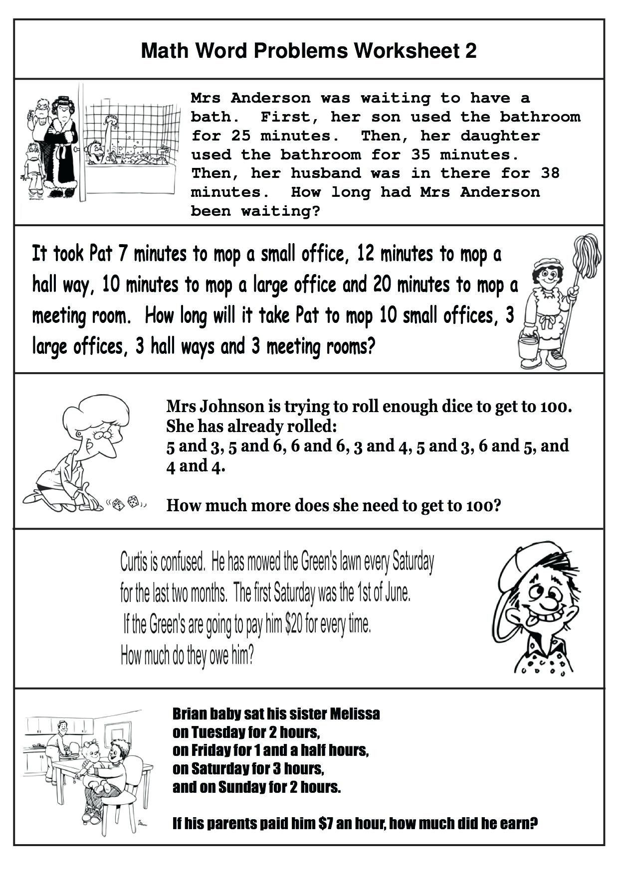 4th Grade Math Review Worksheets 5th Grade Math Review